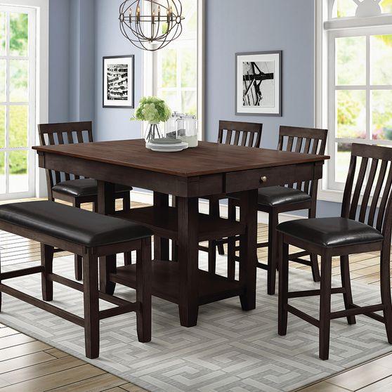 Espresso finish counter height table