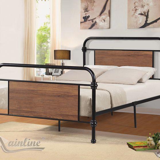 Metal tubular design casual platform twin bed
