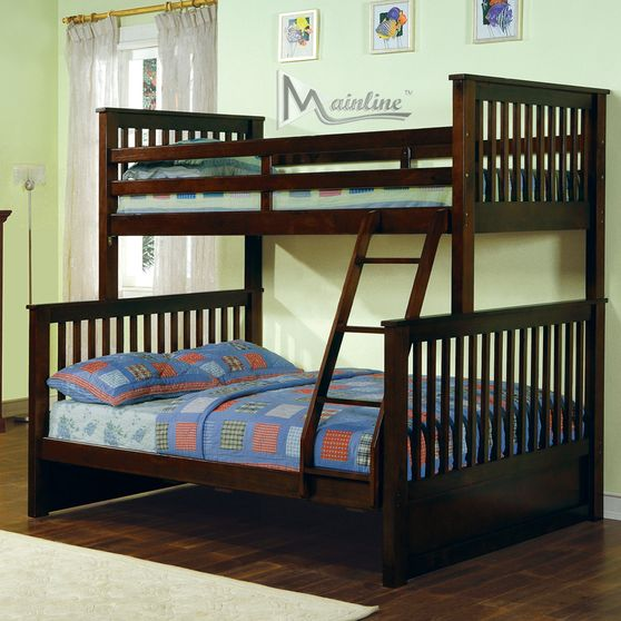 Espresso bunk bed twin over full