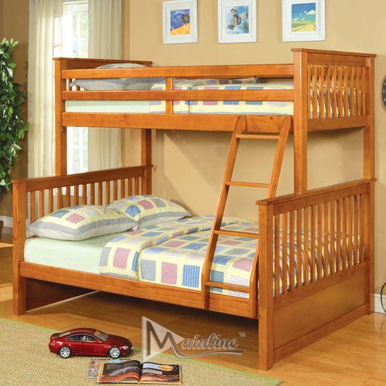 Honey oak bunk bed twin over full