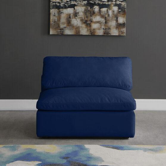 Velvet fabric armless chair
