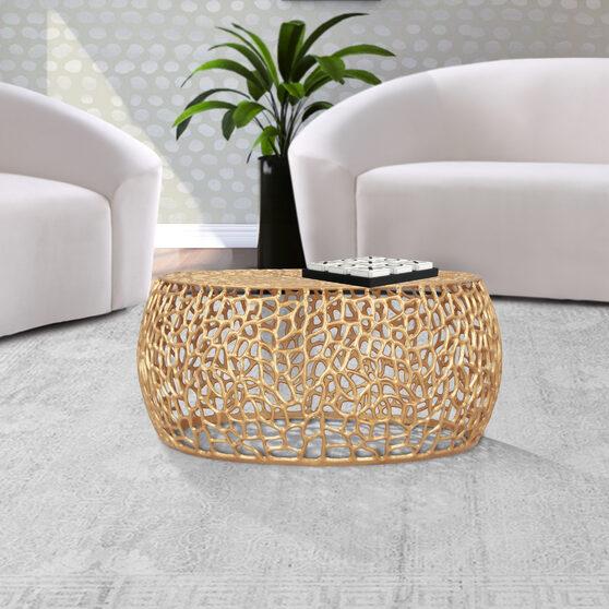 Contemporary oriental motif coffee table