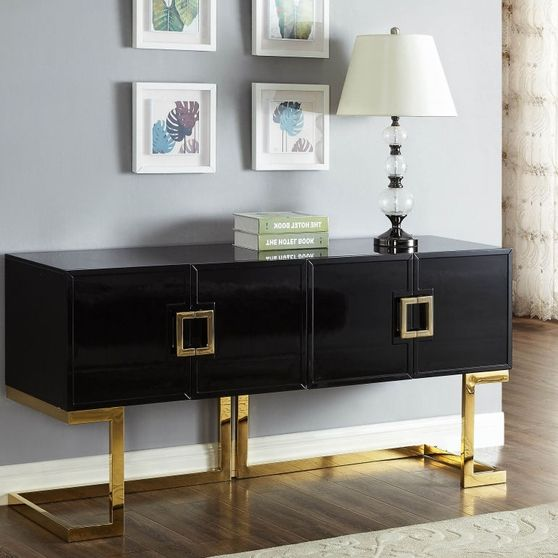 Black/gold buffet /console table