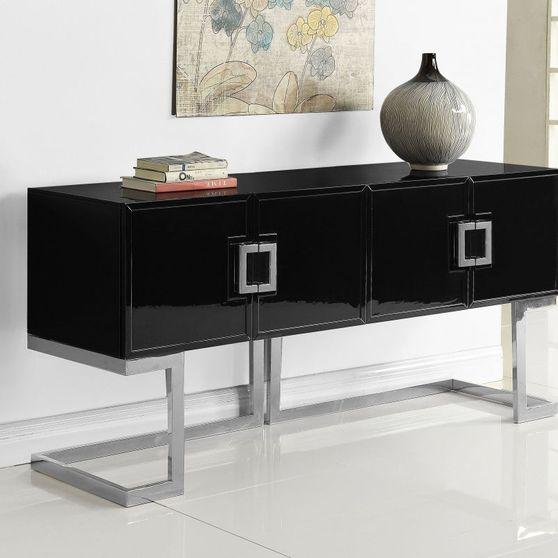 Black / chrome modern cabinet / buffet