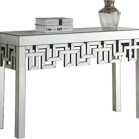 Mirrored design contemporary console table