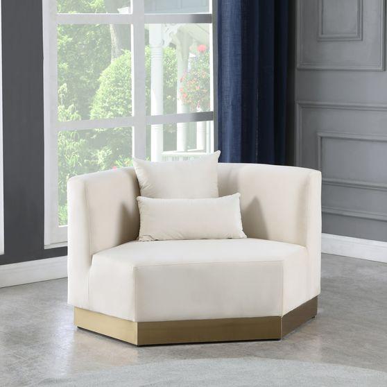 Modular design / gold base cream chair
