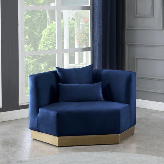 Modular design / gold base contemporary chair