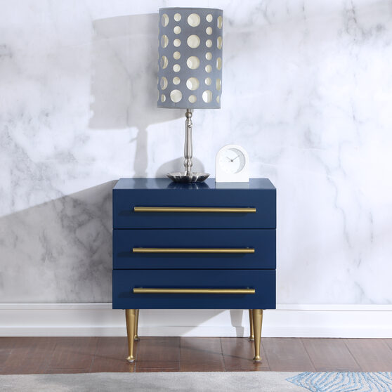 Blue glam style night stand