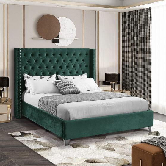 Modern diamond shape tufted headboard bed