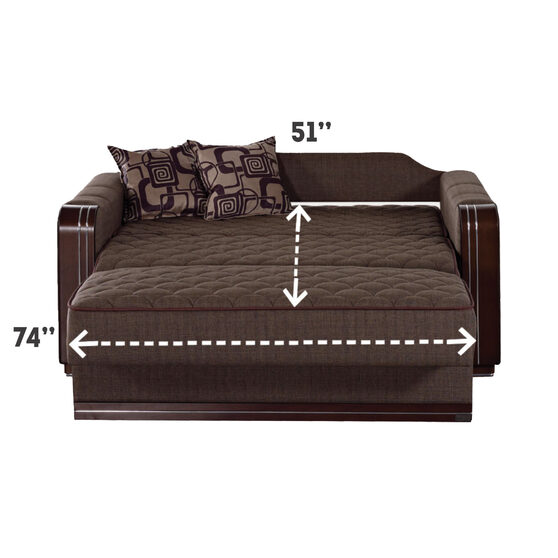 Versatile fabric sleeper converible loveseat bed