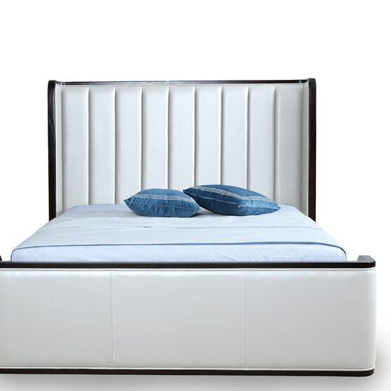 Clean geometric lines cream full bed