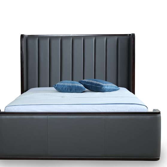 Clean geometric lines graphite full bed