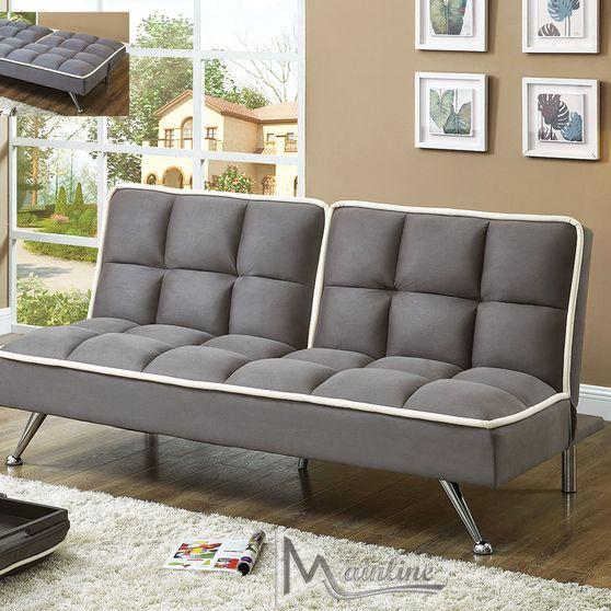 Contemporary gray microfiber sleeper sofa