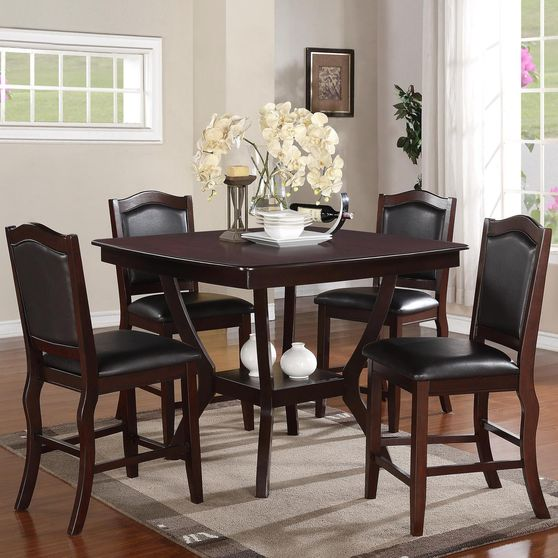 Counter height table + 4 chairs set