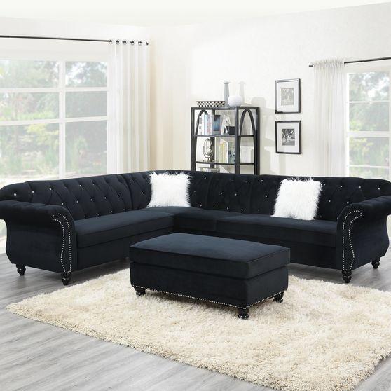 4pcs royal style tufted back sectional sofa