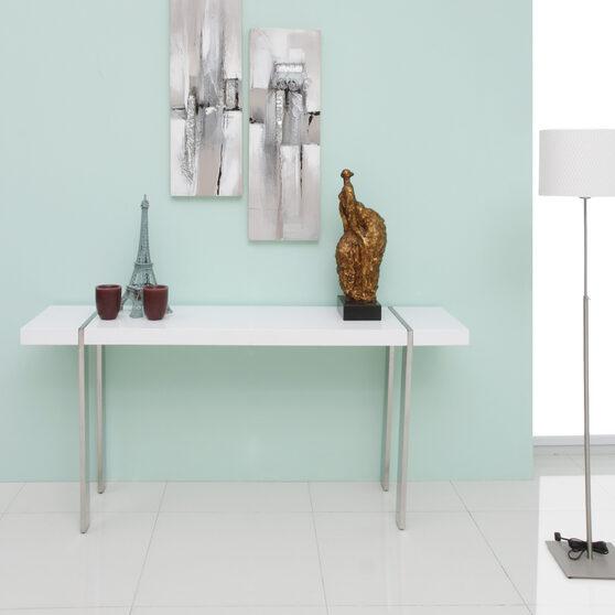 Struttura console high gloss white polished