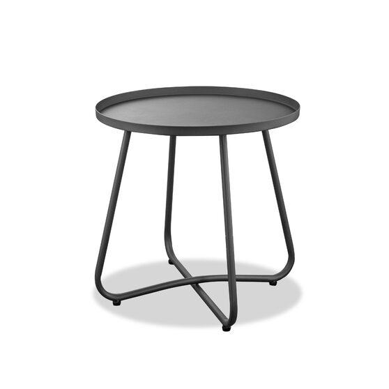 Indoor/outdoor steel side table powder-coating without handles
