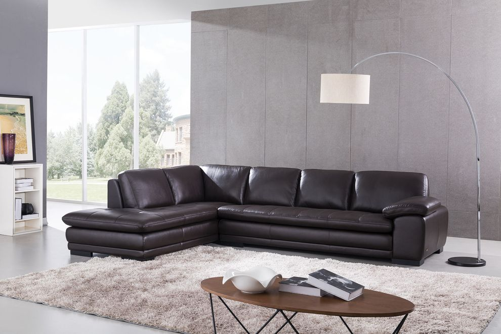 Beverly Hills Top Grain Leather Sectional   Item# 12110