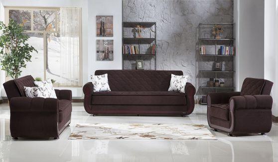 Chocolate storage sofa/love/chair set
