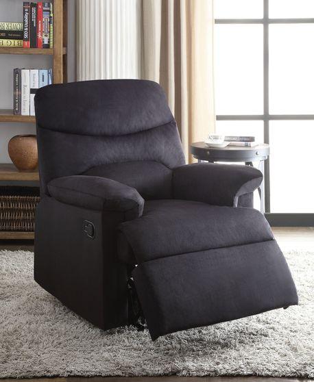 Black woven fabric recliner chair