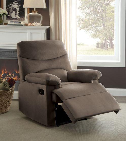Light brown woven fabric recliner chair