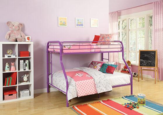 Purple twin/full bunk bed