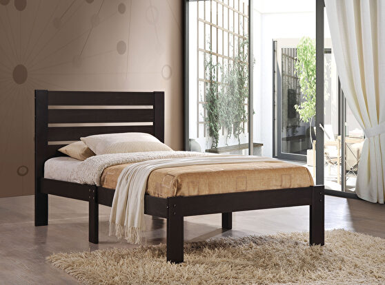 Espresso queen bed
