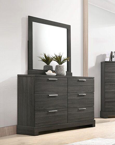 Gray oak dresser