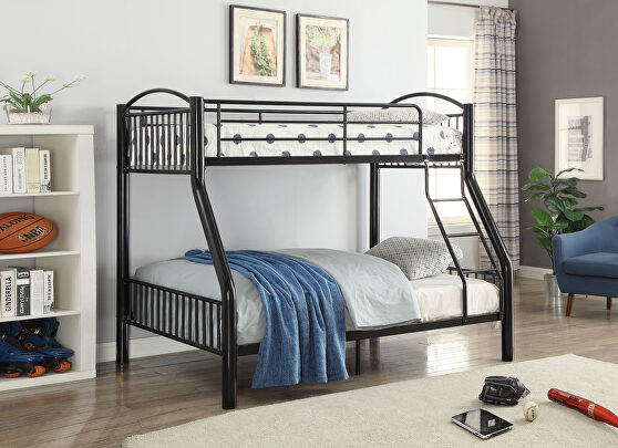 Black twin/full bunk bed