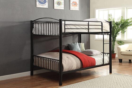 Black full/full bunk bed