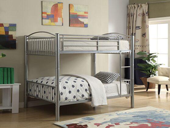 Silver full/full bunk bed