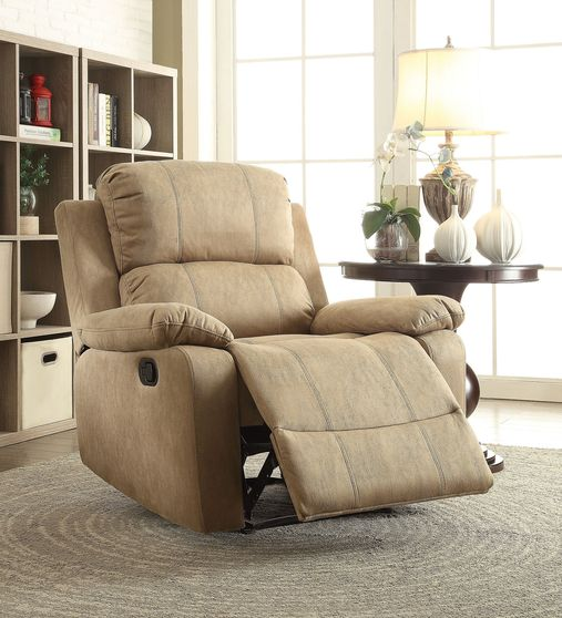 Polished micriofiber recliner chair