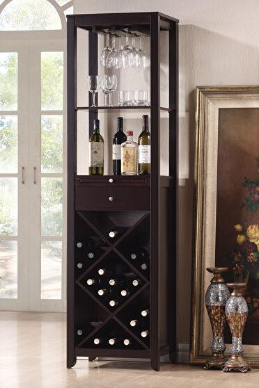 Wenge finish wine cabinet