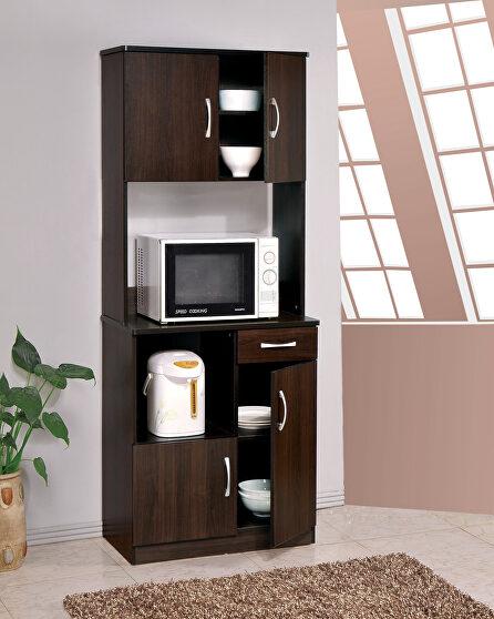 Espresso finish kitchen cabinet