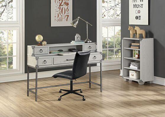 Gray finish desk