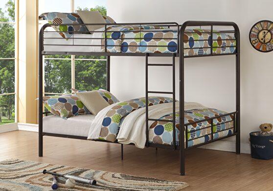 Dark brown bristol full/full bunk bed