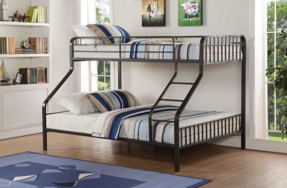 Gunmetal twin xl/queen bunk bed