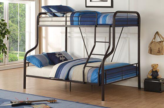Sandy black cairo twin/full bunk bed