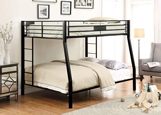 Sandy black full xl/queen bunk bed