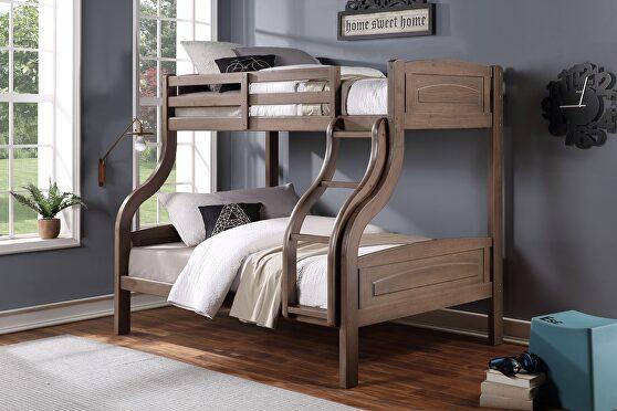 Ash oak twin/full bunk bed