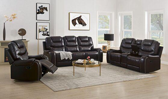 Brown pu sofa (motion)