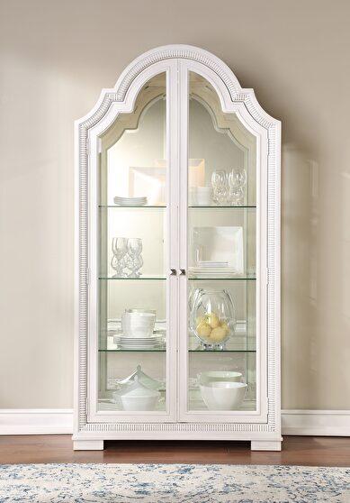 Off white curio cabinet