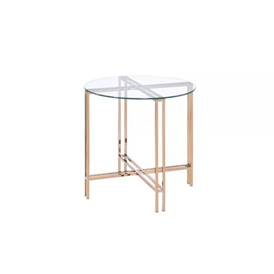 Champagne finish end table
