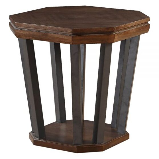 Marble & tobacco end table