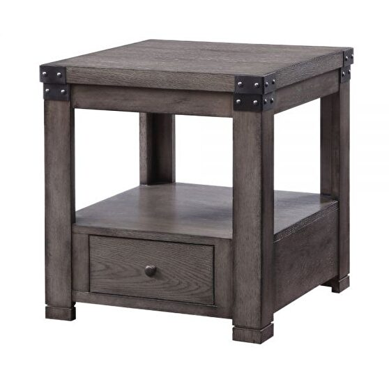 Ash gray finish end table