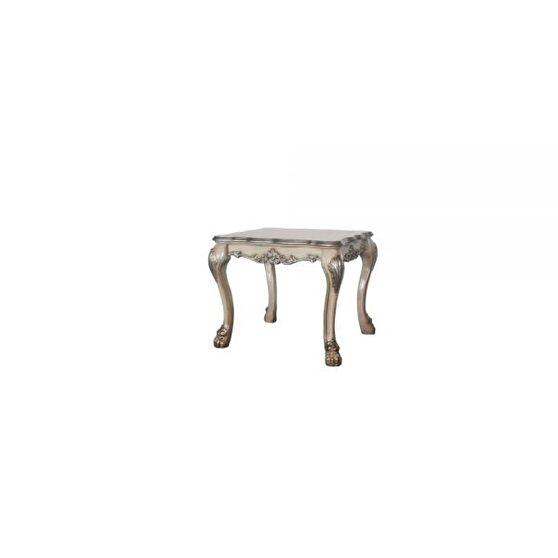 Vintage bone white end table