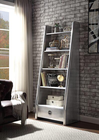 Aluminum bookshelf