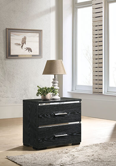 Black (high gloss) accent table