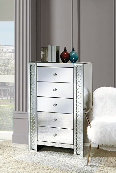 Mirrored & faux crystals chest