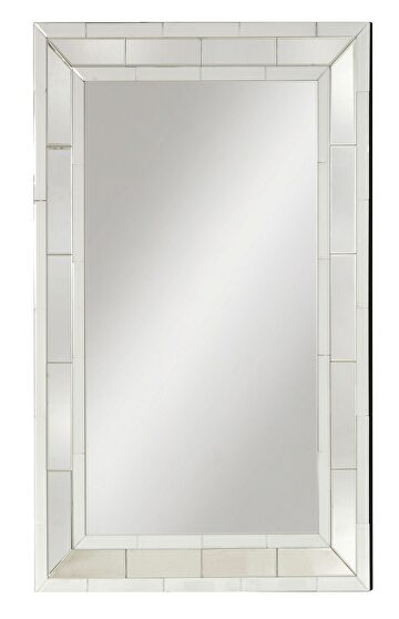 Mirrored accent wall mirror